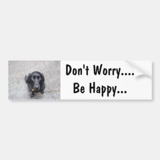 No se preocupe…. Sea feliz Pegatina Para Auto