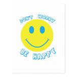 No se preocupe sea feliz tarjeta postal