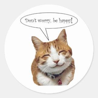 No se preocupe, sea pegatina sonriente feliz del