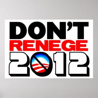No se vuelva atrás 2012 poster