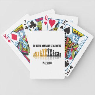 No sea ajedrez mentalmente estancado del juego barajas de cartas