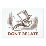 No sea atrasado (el funcionamiento enojado del anuncio