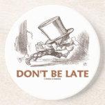 No sea atrasado (el pisapapeles enojado del país d posavasos personalizados