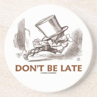 No sea atrasado (el pisapapeles enojado del país posavasos manualidades
