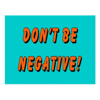 No sea chistoso negativo postal