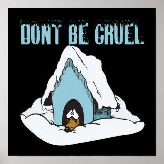 No sea cruel póster