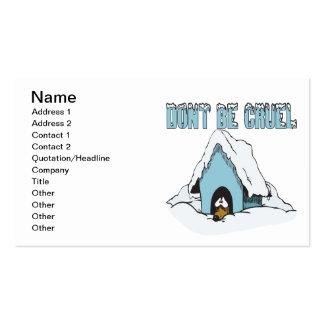 No sea cruel tarjetas de visita