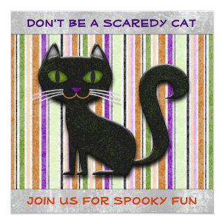 """No sea diseño decorativo asustado del gato de invitación 5.25"""" x 5.25"""""""