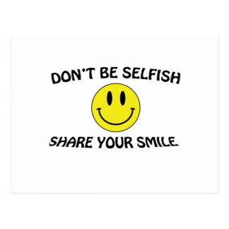 no sea egoísta postal