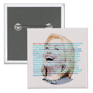 No sea engañado por Hillary Pin Cuadrado