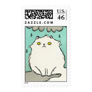 No sea gato triste del gatito - persa mullido blan