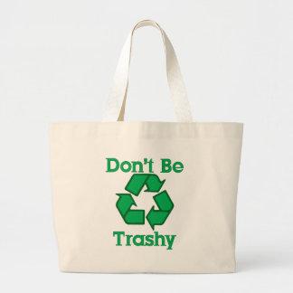 No sea inútil reciclan el tote de la lona de la ti bolsas