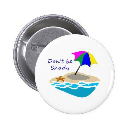 No sea parasol de playa sombrío pin redondo 5 cm