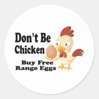 No sea pollo pegatina redonda