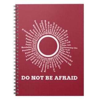 No sea promesas asustadas de la escritura spiral notebook