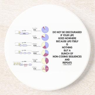 No sea secuencias desalientadoras de la No-Codific Posavasos Diseño