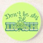 ¡No sea TÍMIDO sea IRLANDÉS! Posavasos Para Bebidas