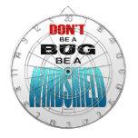 No sea un insecto sea un parabrisas tablero de dardos