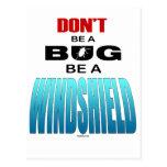 No sea un insecto sea un parabrisas tarjetas postales