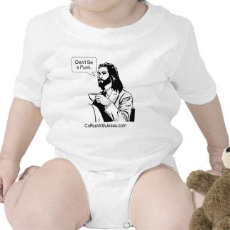 No sea un punk traje de bebé