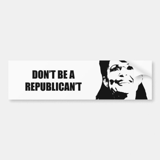 No sea un Republican't Pegatina De Parachoque