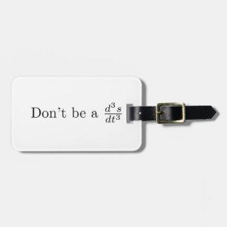 No sea un tirón etiquetas bolsa