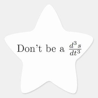 No sea un tirón pegatina en forma de estrella