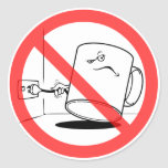 No sea un uso de la taza el pegatina del dibujo