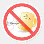 ¡No sea una taza, utilizan el enchufe! Coloree al Pegatinas Redondas