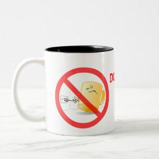 No sea una taza, utilizan la taza eléctrica de la