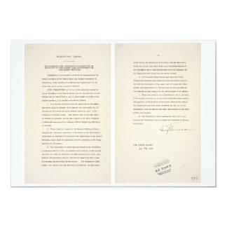 No segregación del decreto 9981 de las fuerzas anuncio
