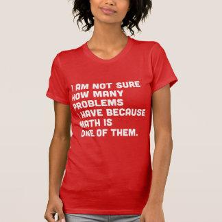 No seguro cuántos problemas porque la matemáticas camiseta