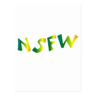 No seguro para el trabajo (brisa fresca de NSFW) Tarjetas Postales