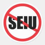 No SEIU Classic Round Sticker