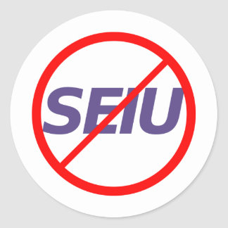No SEIU Classic Round Sticker