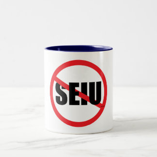 No SEIU Two-Tone Coffee Mug