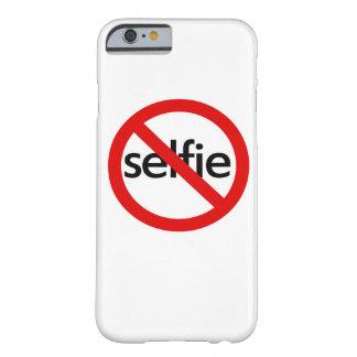no-selfie, caja del teléfono funda barely there iPhone 6