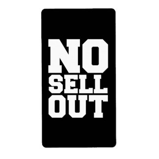 NO SELL OUT LABEL
