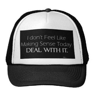 No Sense Today (light) Trucker Hat