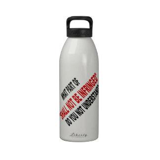No será infringido botella de agua