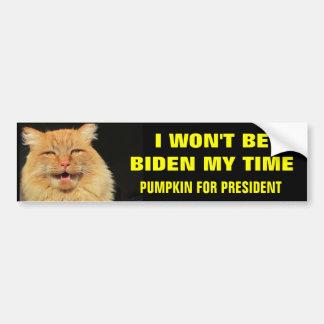 No seré Biden mi tiempo Pegatina Para Auto
