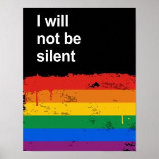 No seré silencioso poster