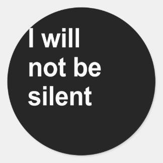 No seré silencioso etiquetas