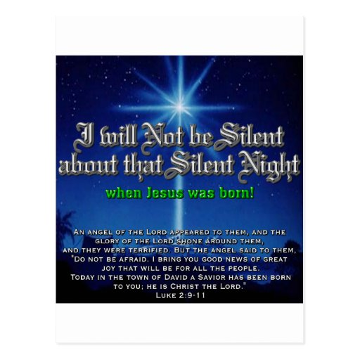 No seré silencioso sobre noche silenciosa tarjeta postal
