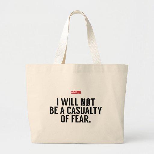 No seré una muerte del miedo bolsas