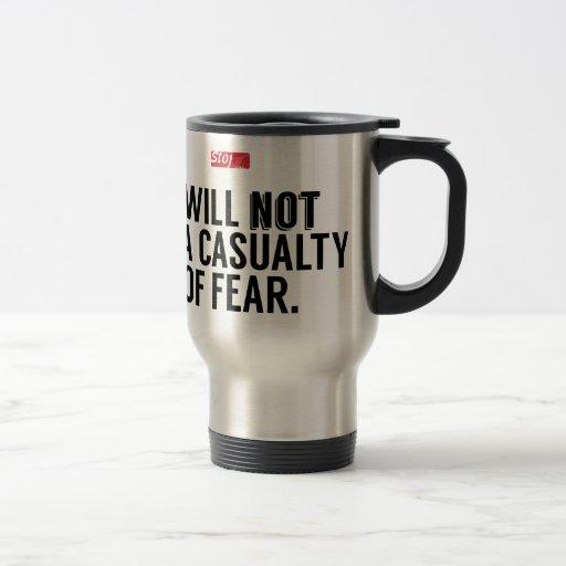 No seré una muerte del miedo tazas