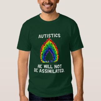 No seremos camisetas oscuro asimilado camisas