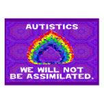 No seremos tarjetas asimiladas del activista tarjeta de visita