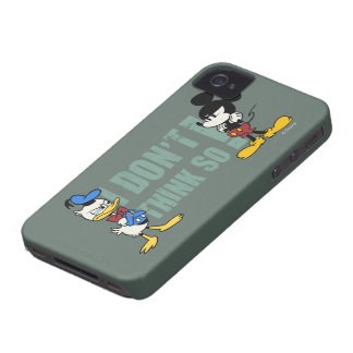No Service | Mickey and Donald iPhone 4 Cover