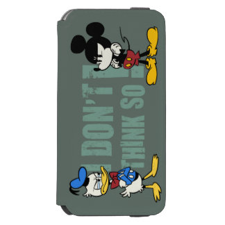 No Service | Mickey and Donald iPhone 6/6s Wallet Case